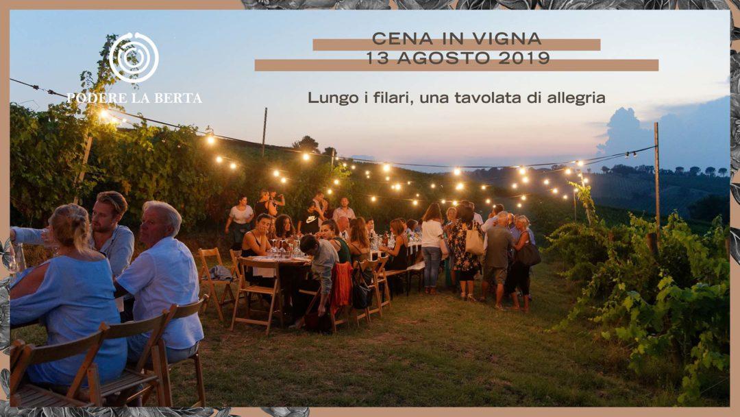 Cena in vigna – 13 agosto