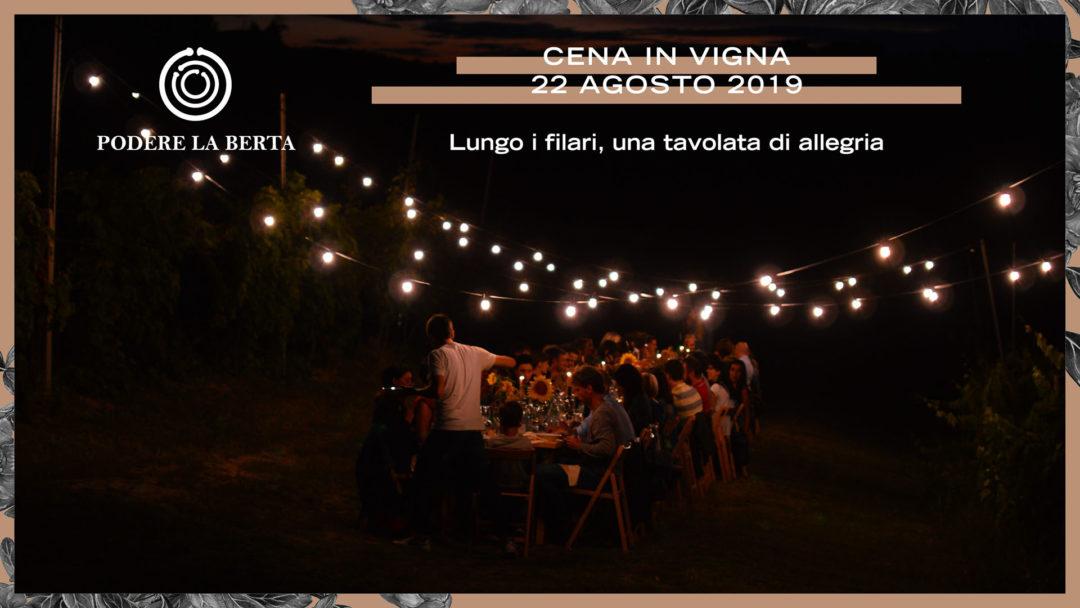 Cena in vigna – 22 agosto