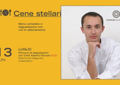 13 luglio – Cena stellare: Alberto Faccani