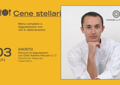 3 Agosto – Cena Stellare: Alberto Faccani