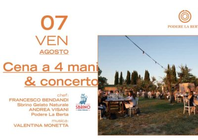 7 Agosto – Cena a 4 mani & Concerto