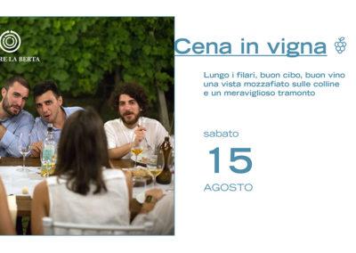 15 agosto – Cena in vigna
