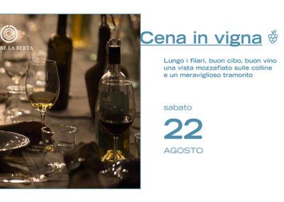 22 Agosto – Cena in Vigna