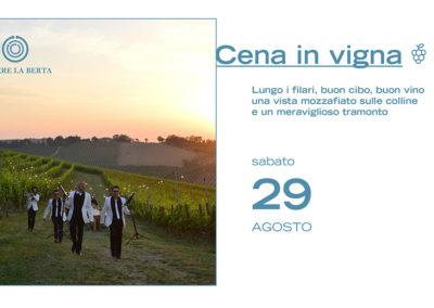 29 Agosto – Cena in Vigna