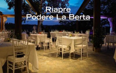 L'autunno a Podere La Berta: dall'8 ottobre ristorante aperto