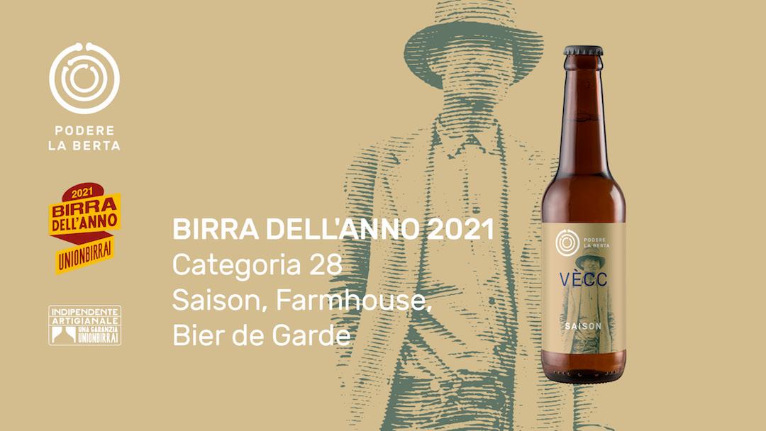 """Birra dell'Anno 2021: Medaglia d'argento per la nostra """"Vècc"""""""